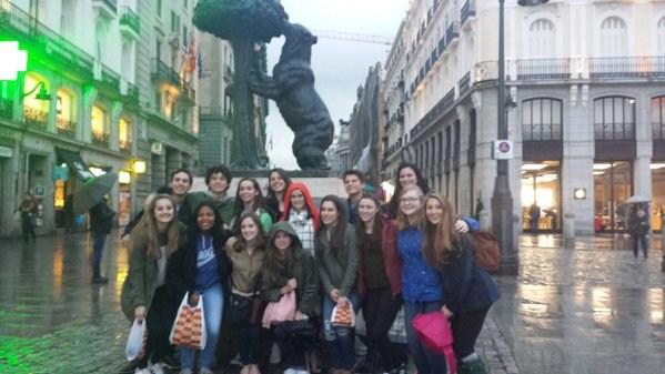 Spanish Exchange students in Madrid