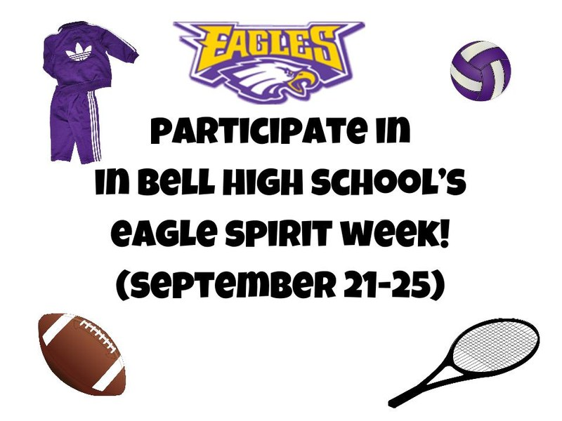 Participate in Bell High School's Spirit Week!
