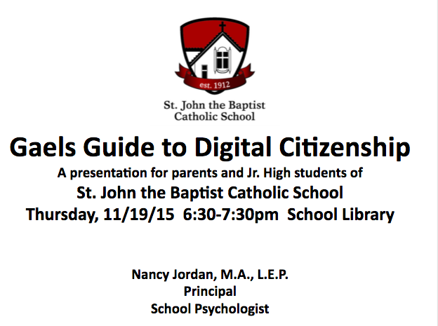 """A Gaels Guide to Digital Citizenship"""