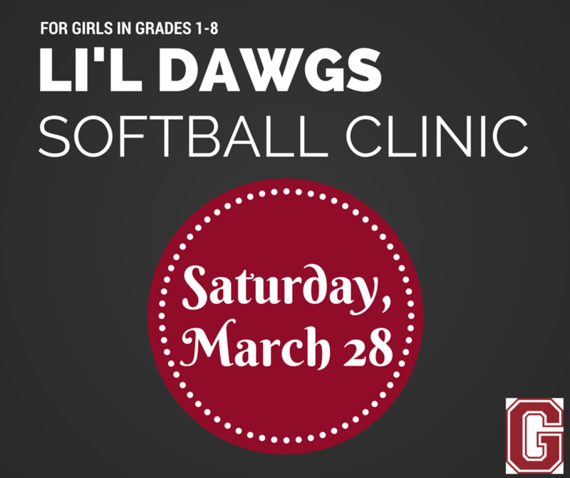 Li'l Dawgs Softball Clinic on March 28