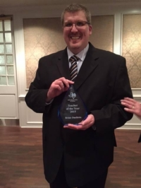 Congratulations to Mr. Brian Ouellette - Notre Dame Club of Dallas Teacher of the Year Award
