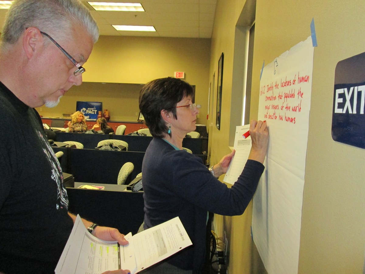 Middle School Teachers create a new project in training.