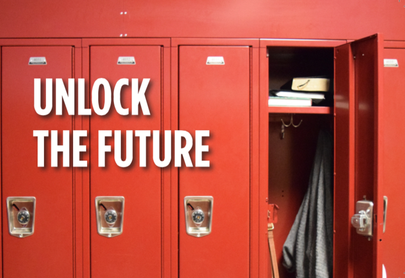 Support the Student Locker Campaign by clicking the link under the thermometer