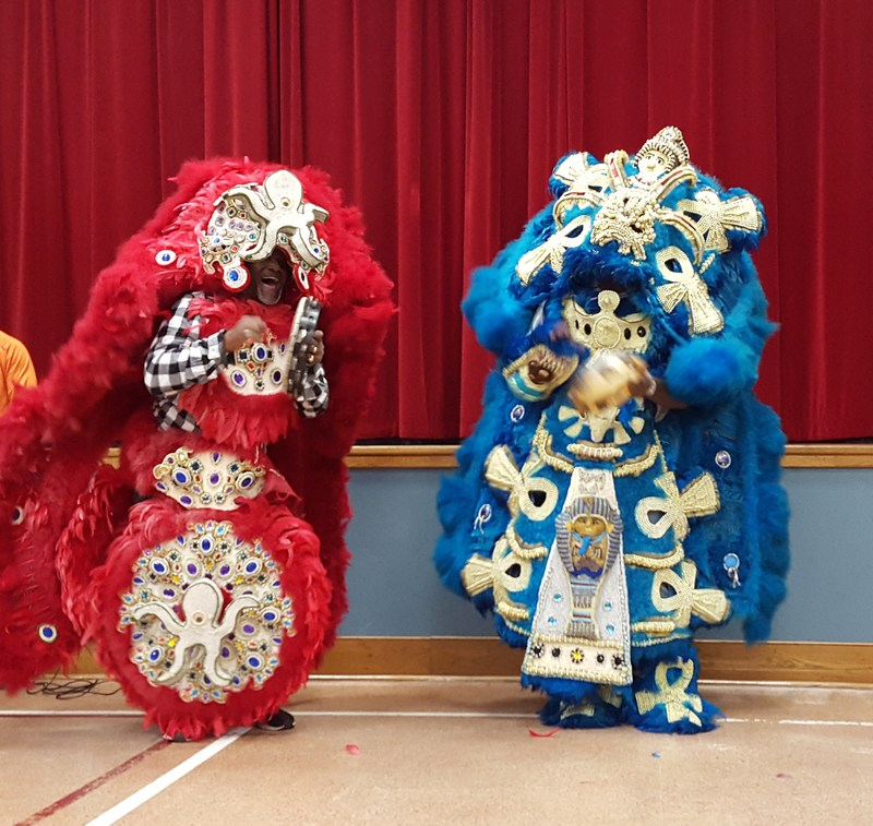 Mardi Gras Indians Come to St. Francis Xavier!