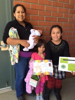 Nathalia R. receives a very special award!