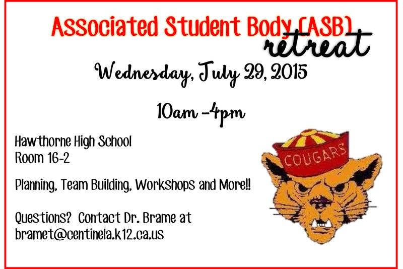 ASB Retreat (July 29th)