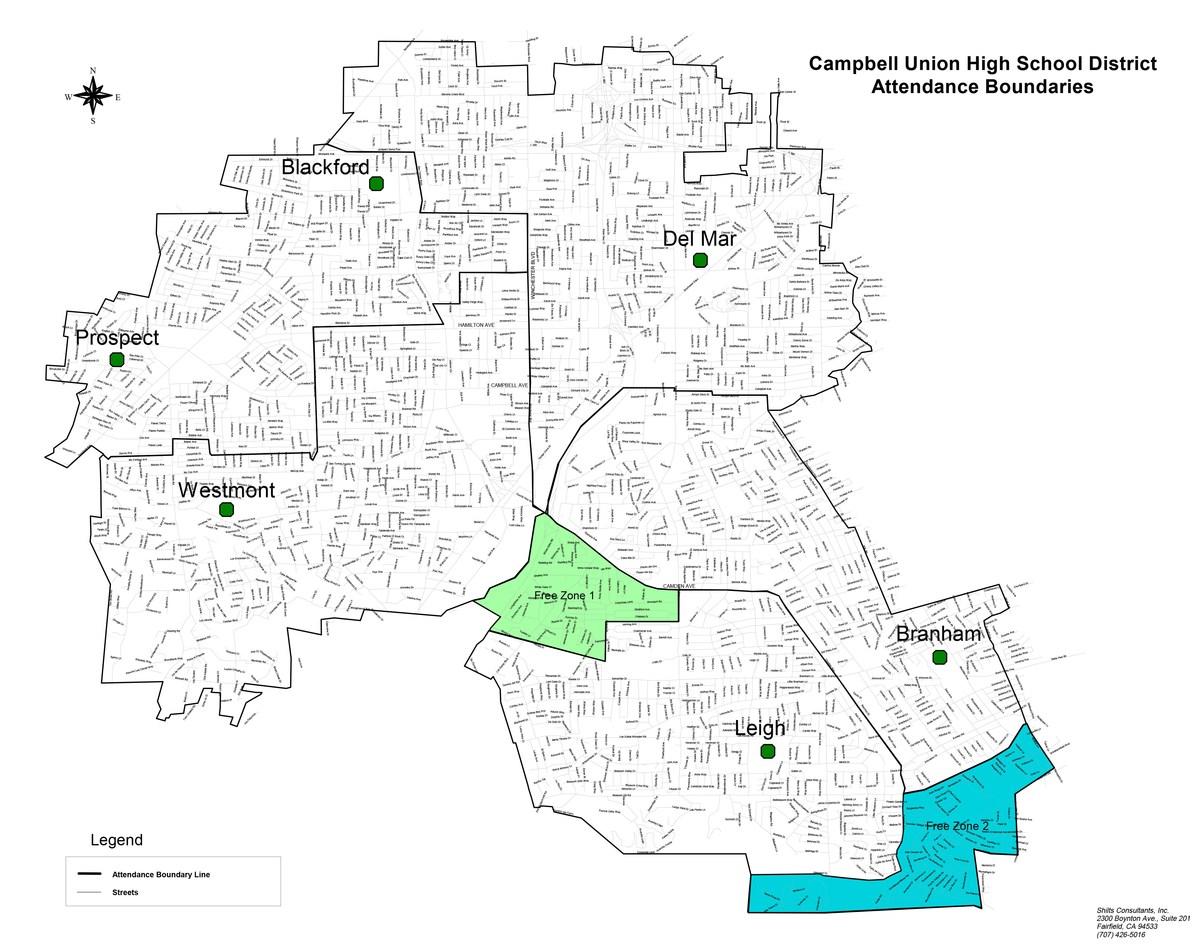 CUHSD attendance boundaries