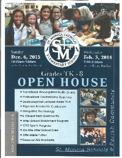 All Grades Open House Sunday, December 6th and Wednesday, February 3rd