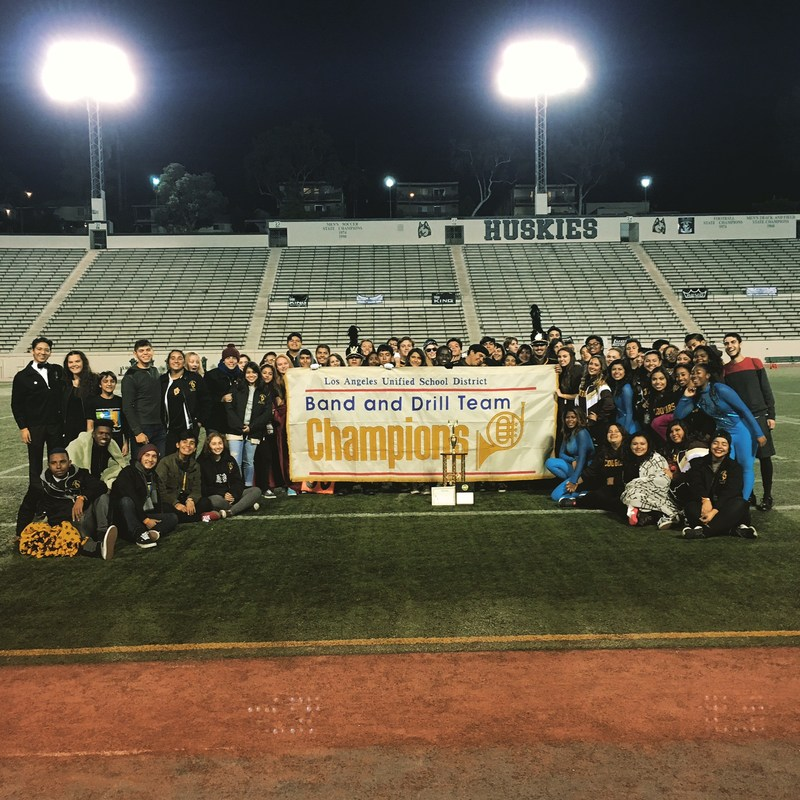 Band and Color Guard Win Division 2A City Camphionships!