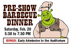 "Early Admission to ""Shrek"" with Dinner Ticket"