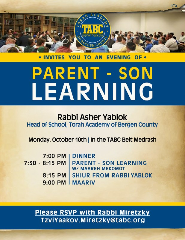 Parent-Son Learning October 10 Thumbnail Image