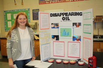 """FMS 8th Grader Katelyn Owens Receives """"Excellent"""" at State Science Day"""