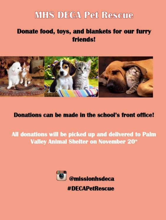 MHS DECA project supports Palm Valley Animal Center