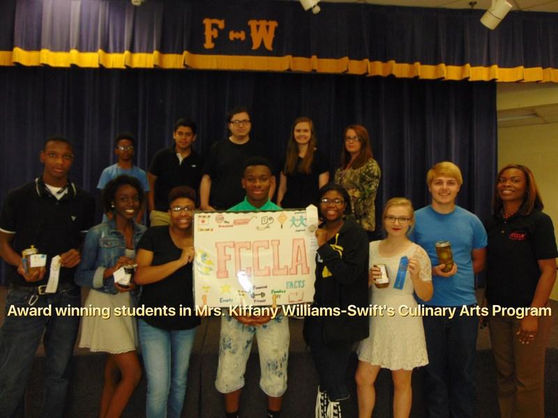 Award Winning Students in Mrs. Kiffany Williams-Swift's Culinary Arts Program