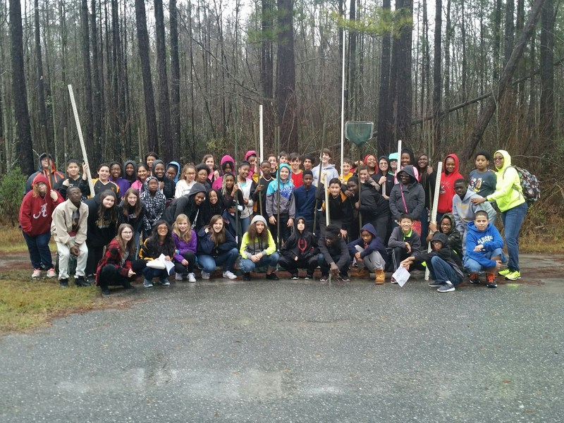 VMS 7th Grade Science Classes Visit Grand Bay Wildlife Management Area
