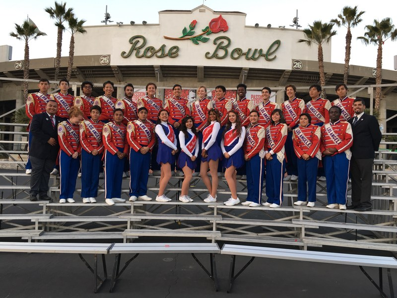 Kennedy Band & Color Guard Students March with Honor Band in Rose Parade & MLK Day Parade