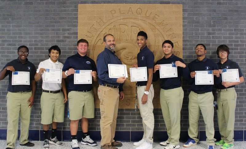 South Plaquemines High School to receive an Industry Based Certificate from the National Center for Construction Education and Reserch