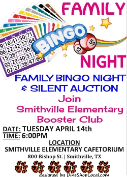 SES Family Bingo and Silent Auction