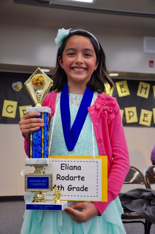 Maple Hill student advances to regional spelling bee