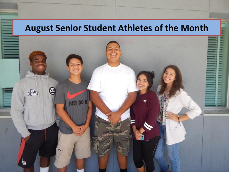 August 2015 Senior Athletes of the Month