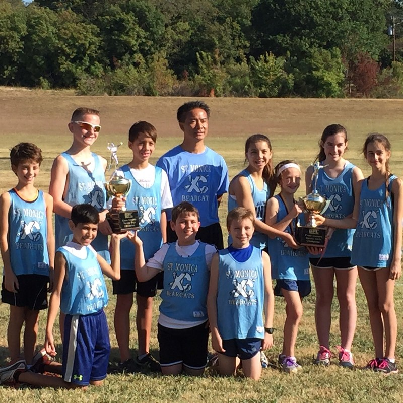Cross Country Champions!  SMS Bearcats - Boys and Girls Team