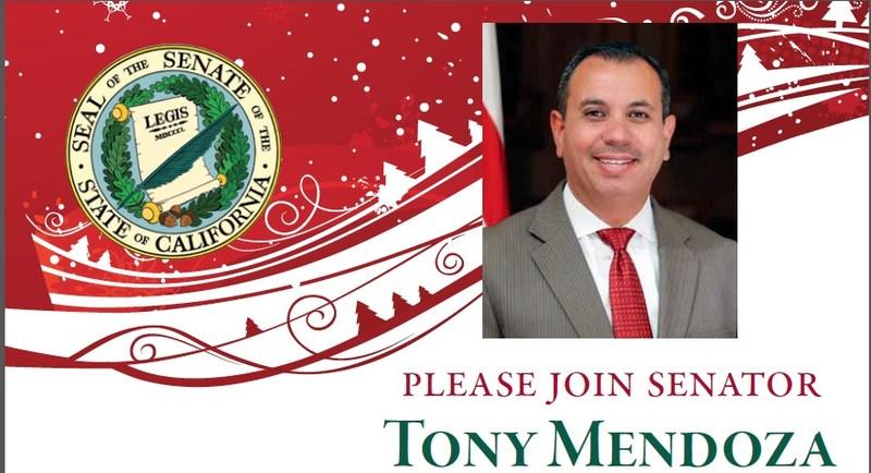 Senator Tony Mendoza To Host Holiday Open House