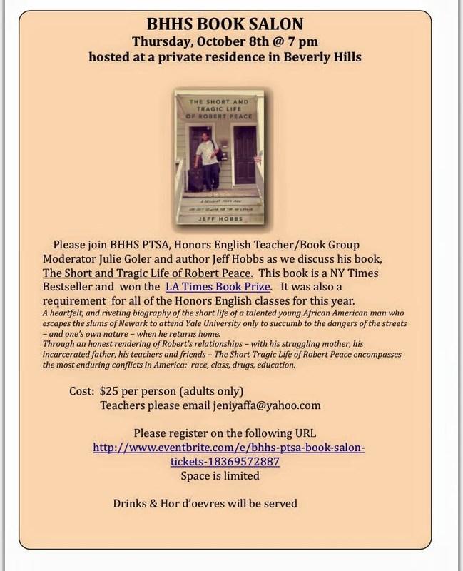 BHHS PARENT/TEACHER BOOK EVENT!