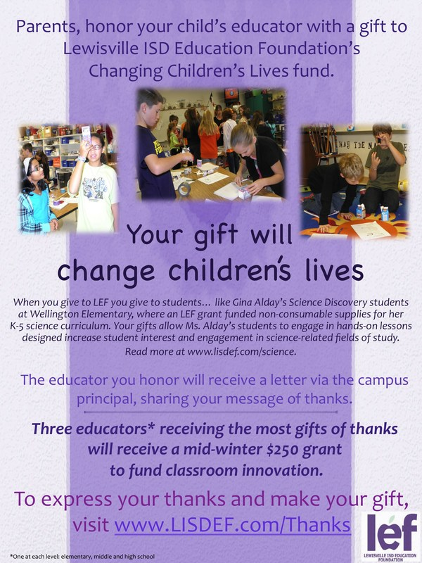 LEF Changing Children's Lives Fund