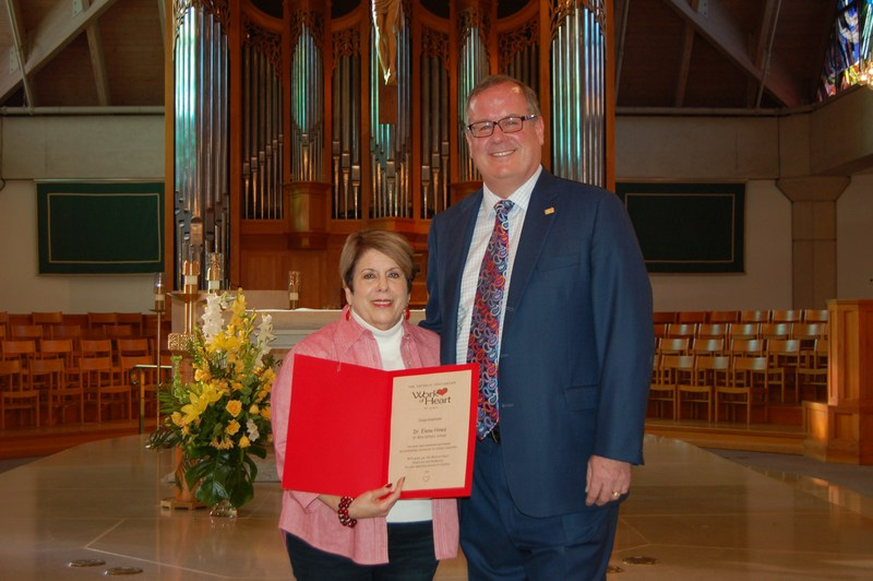 Dr. Elena Hines awarded a Work of Heart