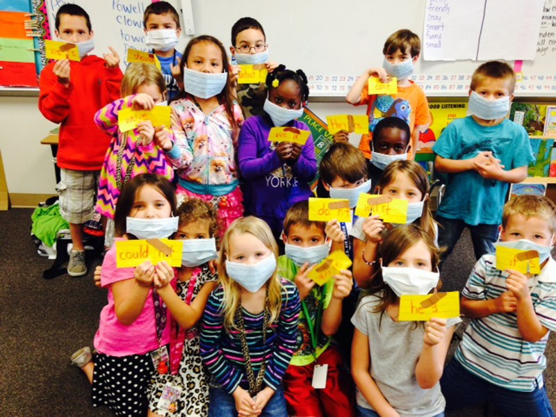 Ikard first graders perform 'Contraction Surgery'