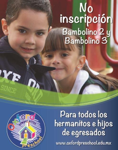 No inscripción Bambolino 2 y Bambolino 3 Thumbnail Image