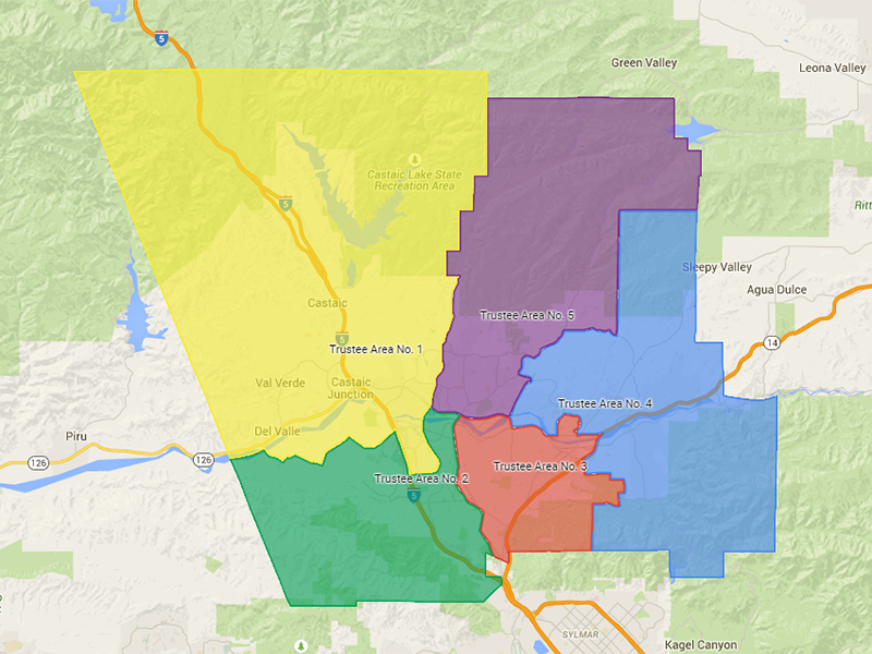 New Map Shows Hart District Trustee Area Voting Boundaries