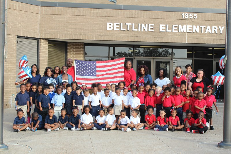 Lancaster ISD's Belt Line Elementary Students Receive an Early Lesson on Patriotism