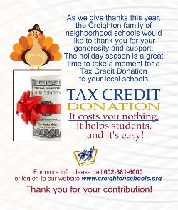 Support Our Students With A Tax Credit Donation!