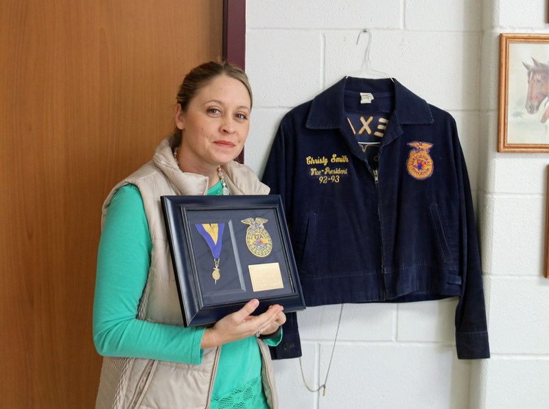 Christy Capps Receives National Honorary American FFA Degree