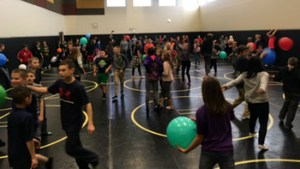 kids dancing in celebration of attendance