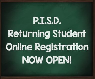 Returning Student Registration - Now Open