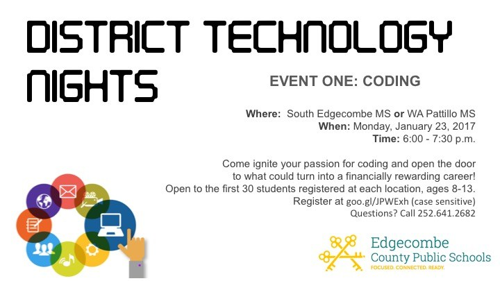 County Technology Night coming to South Edgecombe Thumbnail Image