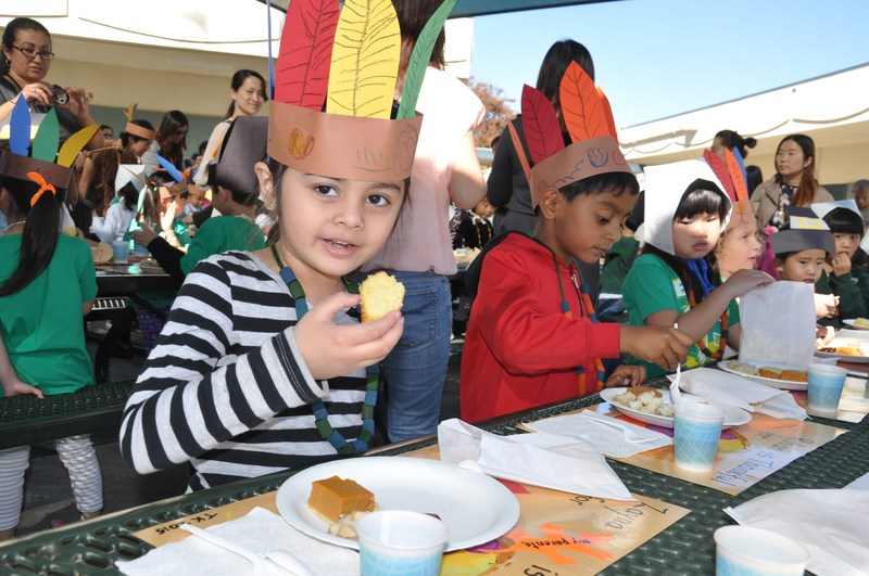 Evergreen Kinders Thankful for Feast