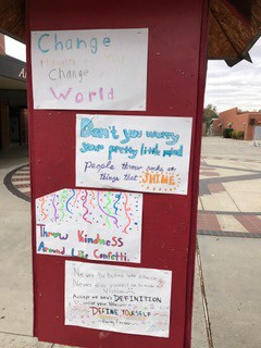 Uplifting Posters from Hart High School Kindness Week