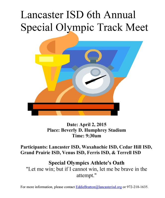 Lancaster ISD to Host its 6th Special Olympics Track Meet