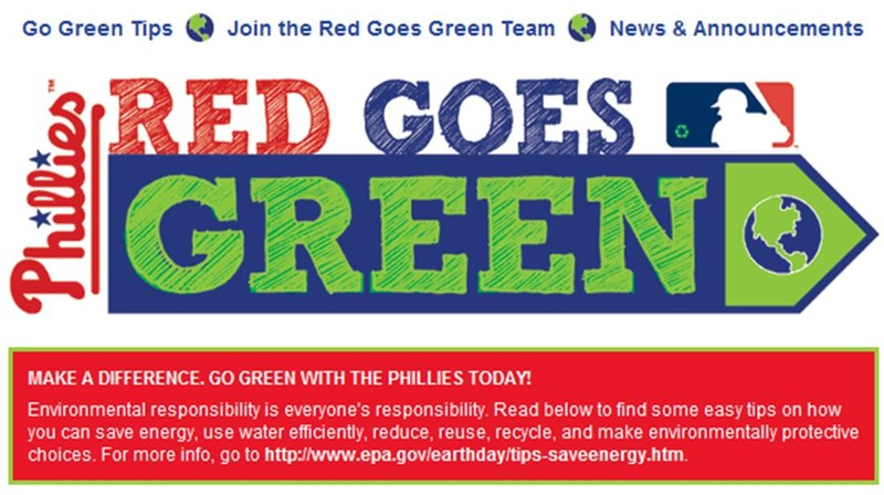 Red Goes Green at the Phillies