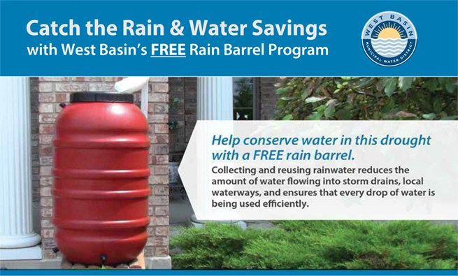 Catch the Rain & Water Savings with West Basin's FREE Rain Barrel Program Thumbnail Image