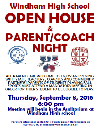 OPEN HOUSE & PARENT/COACH NIGHT Thumbnail Image