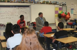 State representative visits middle school