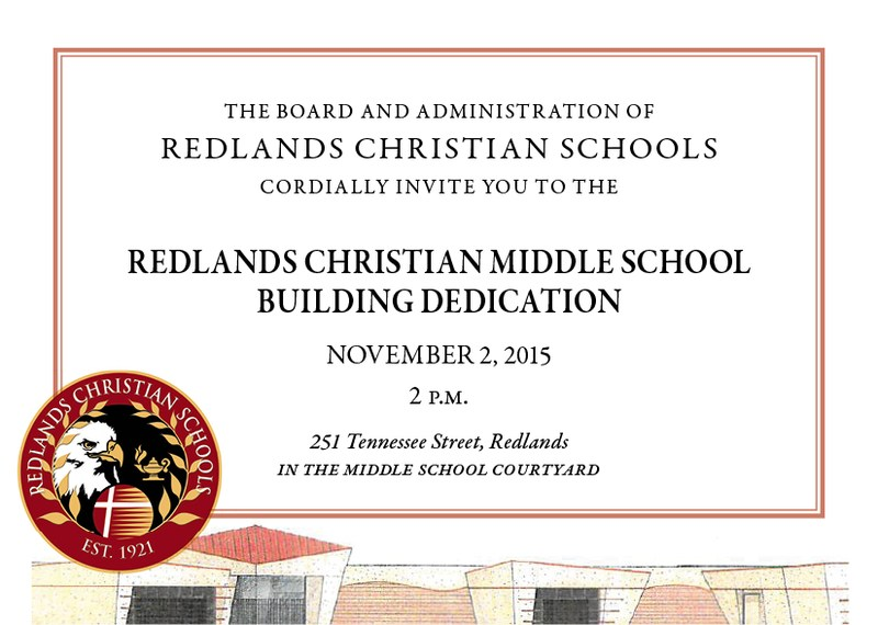 Middle School Dedication in Redlands Daily Facts