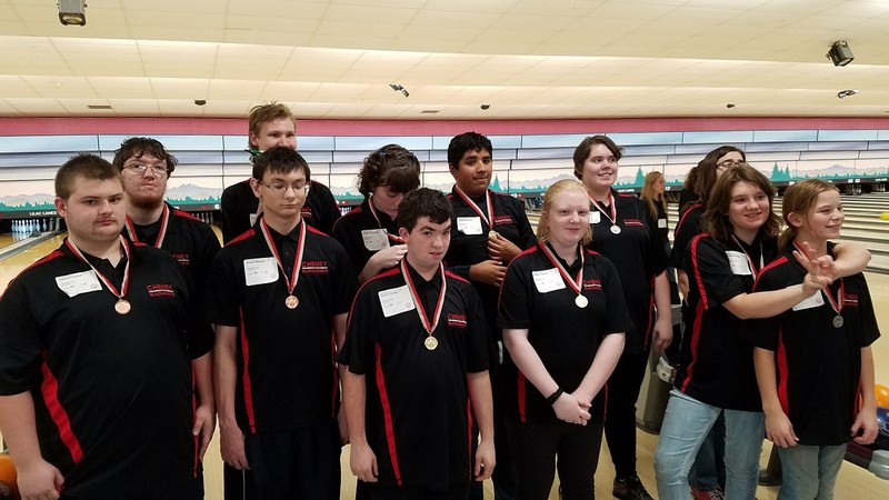 CHENEY HIGH SCHOOL SPECIAL OLYMPICS BOWLERS Thumbnail Image