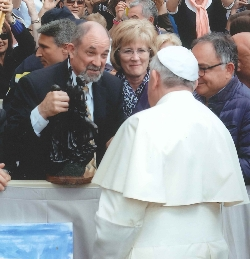 Board Chair Meets Pope Francis