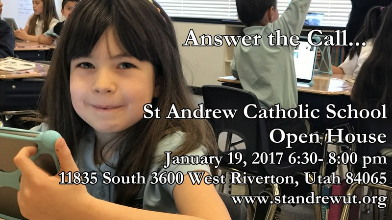 ADMISSIONS OPEN HOUSE January 19, 2017 6:30-8:00 pm Thumbnail Image