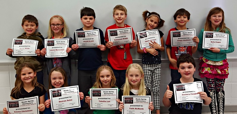 Elementary School Names January's Citizens of the Month